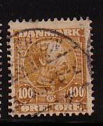 Denmark Sc69 1905 100 ore Christian IX  stamp used
