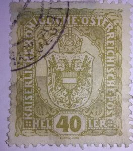 Early Classic Austria issue Scotts cat #154 (1906)