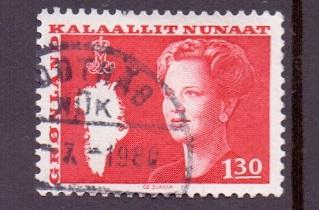 Greenland 1980  used Queen Margrethe / map   1k.30   #