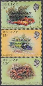 Belize 762A-762C MNH CV $7.25