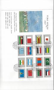 UN Flag Series1987 499-514 WFUNA Tony Bennett Cachet Large Cover