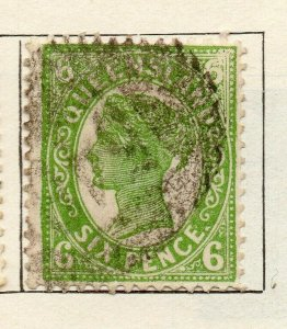 Queensland 1897 Early Issue Fine Used 6d. NW-113707
