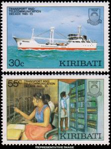Kiribati Scott 485-486 Mint never hinged.