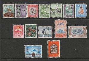 Ceylon some of the 1958 set MNH