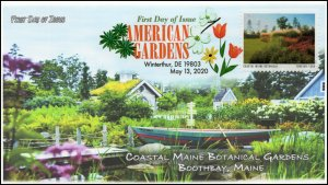 20-116, 2020, American Gardens, Digital Color Postmark, First Day Cover,