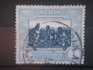 SUDAN, 1951, used 2p, Cotton Picking Scott 105