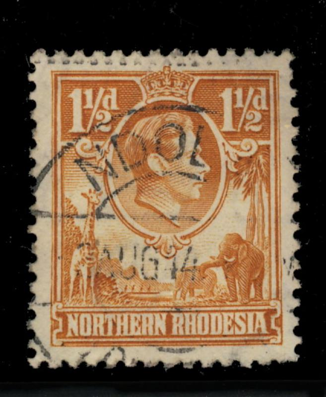 NORTHERN RHODESIA - 1944 - SG30 CANCELLED NDOLA DOUBLE CIRCLE DATE STAMP