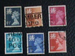 Wales & Monmouthshire Stamp:1971-3 SC# WMMH1//16 very old used Stamps