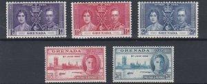 GRENADA      1937 - 46 CORONATION & VICTORY  SETS  MH