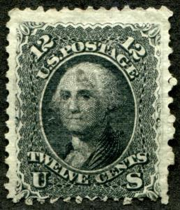 United States (US) 90 Used, Centered 3 sides, tiny pin point thin.