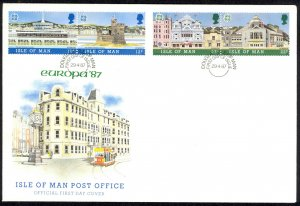 Isle of Man Sc# 332a-334a FDC 1987 4.29 Europa