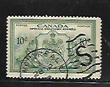 CANADA, E11, USED, SPECIAL DELIVERY, COAT OF ARMS