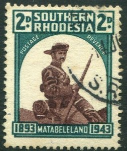 SOUTHERN RHODESIA-1943 50th Anniv. of Occupation of Matabeleland GOOD USED