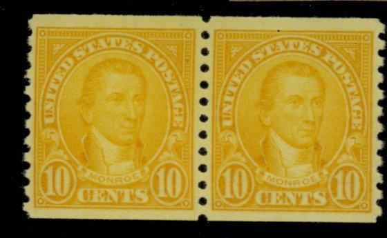 603 MINT Pair F-VF OG NH Gum skip line Cat$16