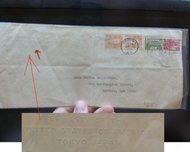 Japan 4 Stamps on 1929 Cover, From US Embassy Tokyo, Paquebot Canada (9bel)