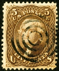 US Stamps # 95 Used F-VF Deep color fresh Scott Value $850.00