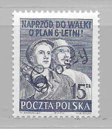 Poland 477 Workers Groszy overprint single MNH (z1)
