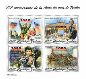 Z08 TG190535a TOGO 2019 Fall of Berlin Wall MNH ** Postfrisch
