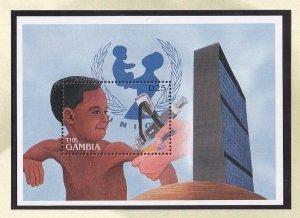 Gambia   #1804   MNH  sheet  1996  Unicef 50 years
