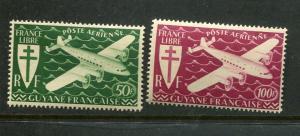 French Guiana #C9-10 Mint