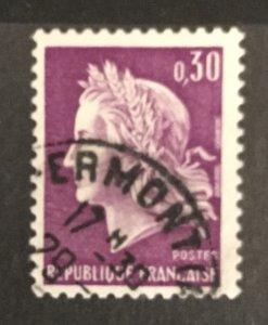France 1967#1198, Used, CV $.25