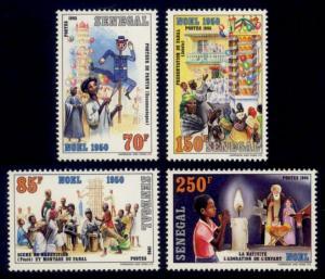 Senegal Sc# 696-9 MNH Christmas 1986
