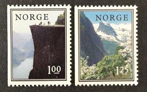 Norway 1975  #677-8, Booklet Pane Singles, MNH, CV $1.60
