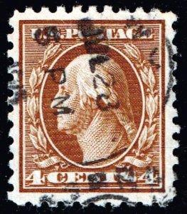 US STAMP #427 Series of 1914-15 4¢ Washington USED STAMP XFS  SUPERB