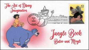 AO-4345–2, 2008, The Art of Disney Imagination, Pictorial Postmark Jungle Book,