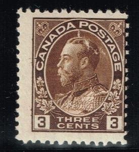 Canada Scotts# 108 - Mint Hinged (Small Ink Rem) - Lot 122015