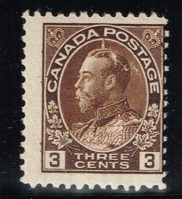 Canada Scotts# 108 - Mint Hinged (Small Ink Rem) - Lot 122015