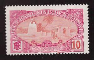 Somali Coast Scott 68 MNH** 1909 stamp perf tip toned see back scan