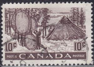 Canada 301 USED 1950 Drying Animal Hides 10¢