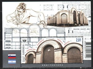 Slovenia. 2019. bl 121. Market in Buenos Aires. MNH.