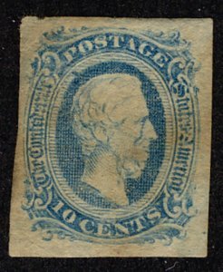 US #CONFEDERATE US #11 VF/XF mint hinged, four nice margins, usual dry gum,  ...