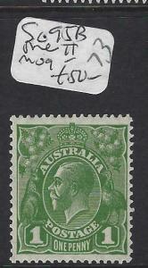 AUSTRALIA   (P2302B) KGV  1D   SG 95B  DIE  II   MOG