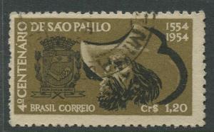Brazil - Scott 771 - Cent.De Sao Paulo - 1954 - Used- Single 1.20c Stamp