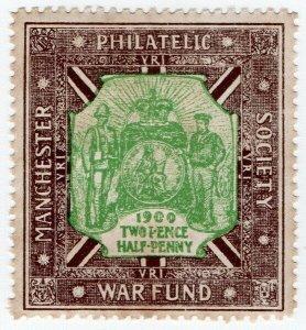(I.B) Boer War Cinderella : Manchester Philatelic Society Boer War Fund 2½d