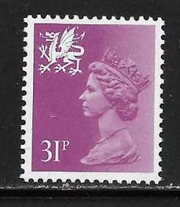 Great Britain Wales WMMH53 31p Machin MNH