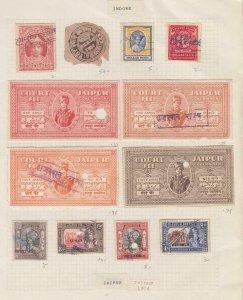 INDIA - DINDORE HOLKAR JAIPUR REVENUE STAMPS - i994