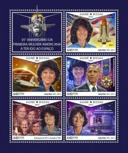Guinea-Bissau - 2018 Sally Ride - 5 Stamp Sheet - GB18610a
