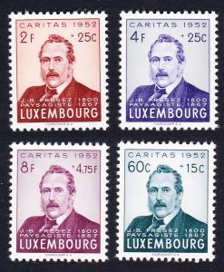 Luxembourg J B Freezes painter 4v SG#559-562 SC#B170-B173 CV£50+