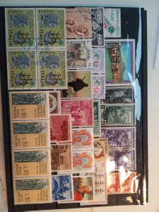 Lot 1 Italy full page, 33 stamps used