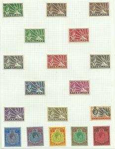 Nyasaland 1938 Set of 18, Sg 130-143, Hinged to page, M/M {C/P-26}