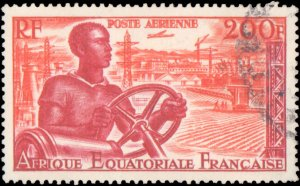 French Equatorial Africa #C39-C41, Complete Set(3), 1955, Used