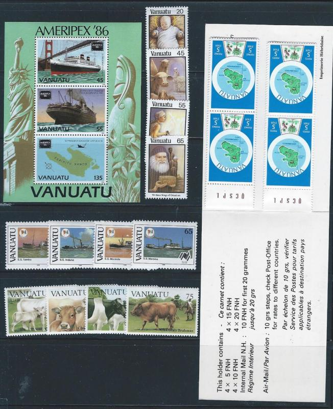 Vanuatu. mint sets, booklet, souvenir sheet, NH CV $19.00