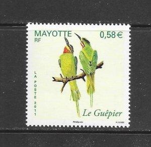 BIRDS - MAYOTTE #270  MNH