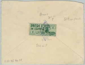 77660 - POSTAL HISTORY -  BRITISH FORCES in EGYPT stamp on COVER 1936