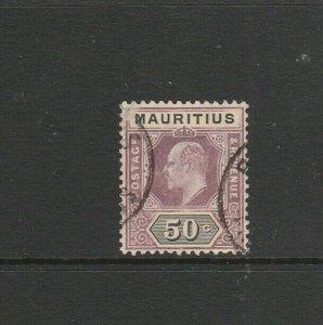 Mauritius 1910 EdV11 50c Used SG 191