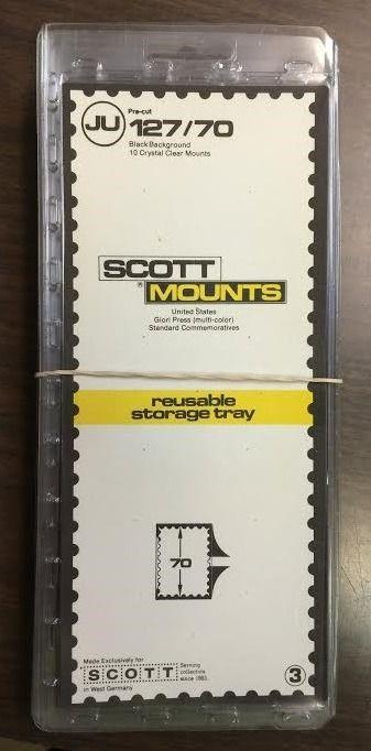 SCOTT MOUNTS 127/70, (BLACK BACKGROUND) 10 PACKS RETAILED AT $57.50